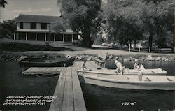 Willow Grove Hotel on Wamplers Lake Postcard