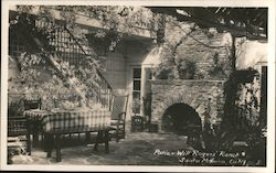 Patio - Will Rogers' Ranch Postcard