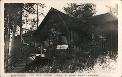 The Red Indian Lodge at Sioux Point Postcard