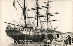 """City of New York"" Byrds's Antartic Ship Postcard"