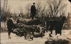 Loading Giant Rabbits After Hunting Trip Postcard