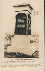 The Founders' Monument Postcard