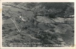 Ridgewood Ranch, The Home of Seabiscuit, Along the Redwood Highway Postcard