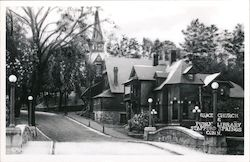 Grace Church and Public Library Postcard