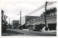 A Section of Main St. Postcard