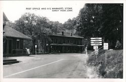 Post Office and H.G. Warner's Store Postcard