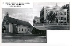 St. Joseph's Polish R.C. Church, School, Sisters Home and Rectory Postcard