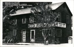 Office and Store Conrad's Brookfield Landing Lake Candlewood Postcard