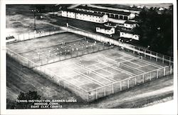 Tennis Instruction at Banner Lodge Postcard