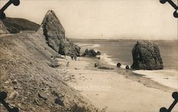 Castle Rock, Pacific Coast Highway Postcard