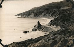 Unpaved Pacific Coast Highway Postcard