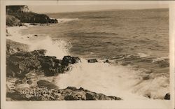 Surf scene, Sherman's Point Postcard