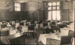 Dining Room, Sanatorium of the Christian Science Benevolent Association Postcard