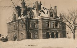 Post Office in Winter Postcard