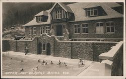 Upper Hot Springs Baths, Banff National Park Postcard
