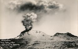 Mt. Lassen, The Only Active Volcano in America Postcard