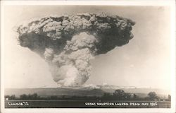 Great Eruption Lassen Peak, May 1915 Postcard