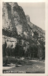 Kings River Canyon - Cliffs Trees Shore and River Postcard