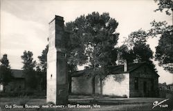 Old Store Building and Chimney Postcard