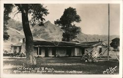 Col. Cody's Old TE Ranch. After which the Buffalo Bill Museum is patterned. Postcard