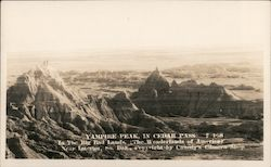 Vampire Peak in Cedar Pass, Badlands Postcard