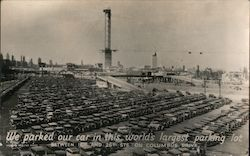 World's Largest Parking Lot - Chicago World's Fair Postcard