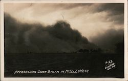 Approaching Dust Storm in Middle West Postcard