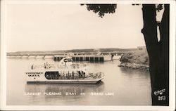 Cherokee Queen. Largest pleasur boat on Grand Lake Postcard