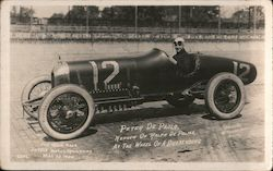Peter De Paolo in Duesenberg race car Postcard
