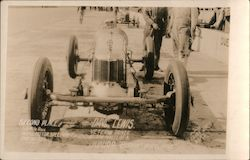 "Dave Lewis, Junior ""8"" front wheel drive. Second place 500 Mile Race Indipis Motor Speedway Postcard"