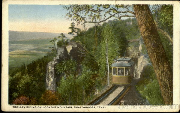 Trolley Riding On Lookout Mountain Chattanooga Tennessee