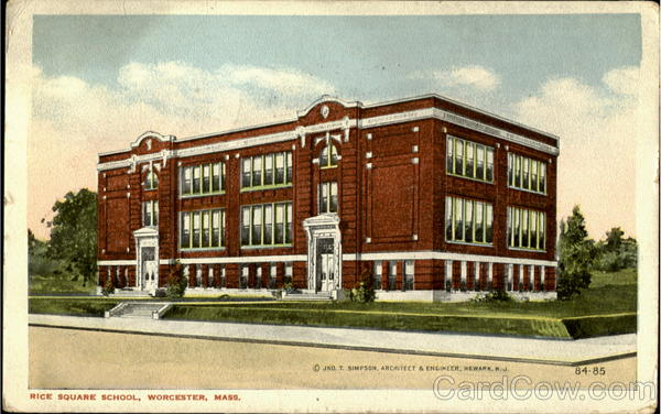 Rice Square School Worcester Massachusetts