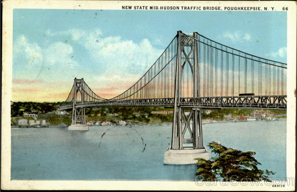 New State Mid Hudson Traffic Bridge Poughkeepsie New York