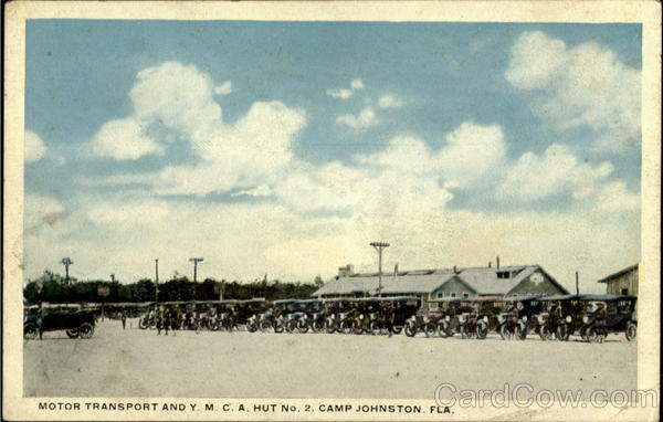 Motor Transport And Y M C A Hut No. 2 Camp Johnston Florida