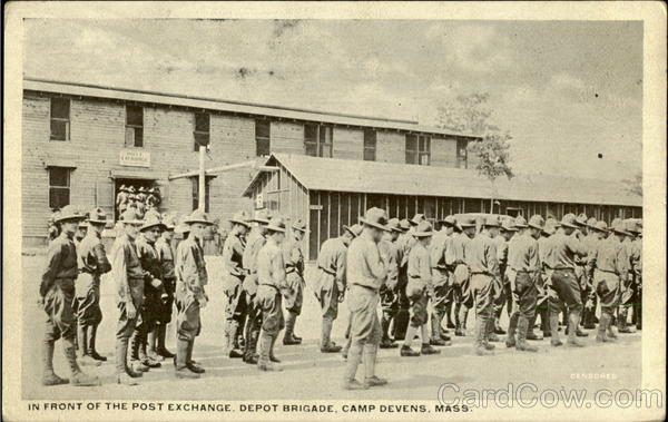 In Front Of The Post Exchange, Depot Brigade Camp Devens Massachusetts