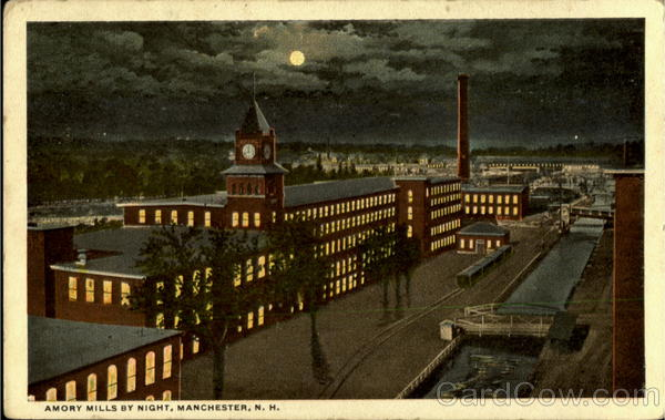 Amory Mills By Night Manchester New Hampshire