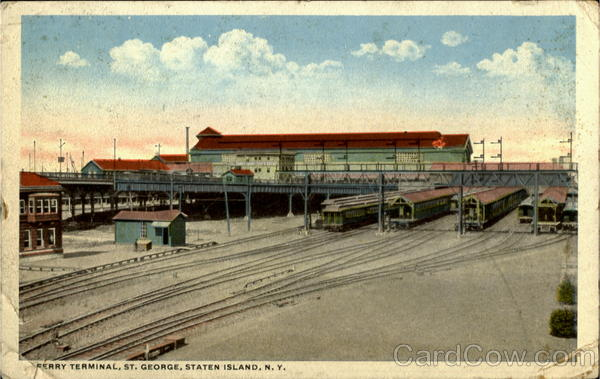 Ferry Terminal Staten Island St. George New York Depots