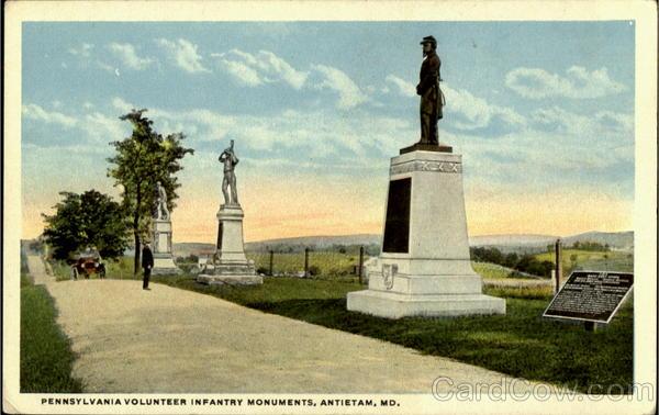 Pennsylvania Volunteer Infantry Monuments Antietam Maryland