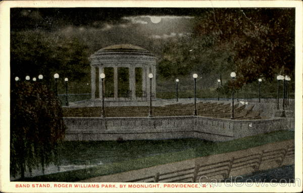 Band Stand Roger Williams Park By Moonlight Providence Rhode Island