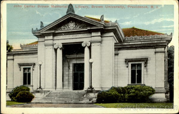 John Carter Brown Memorial Library, Brown University Providence Rhode Island