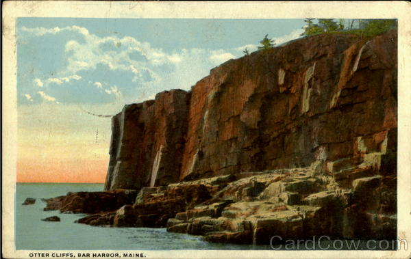 Otter Cliffs Bar Harbor Massachusetts