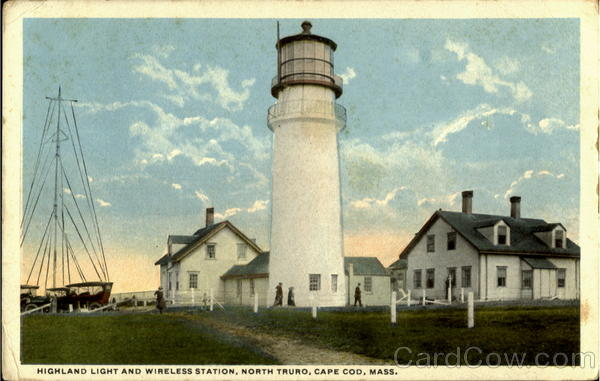Highland Light And Wireless Station, North Truro Cape Cod Massachusetts