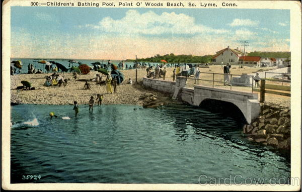 Beach Christmas Cards >> Children's Bathing Pool, Point O' Woods Beach South Lyme, CT