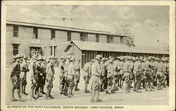 In Front Of The Post Exchange, Depot Brigade
