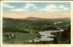 Birdseye View Megunticook Stream From Mt. Battie Postcard