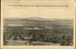 View Of The Nashua Valley An Mt. Wachusett From Prospect Hill