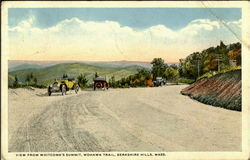 View From Whitcomb's Summit, Mohawk Trail Postcard