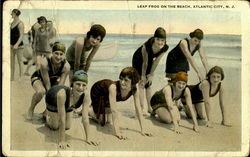 Leap Frog On The Beach Postcard