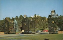 Entrance Gate to Forest Lawn Postcard