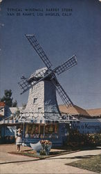 Typical Windmill Bakery Store Van De Kamp's Postcard